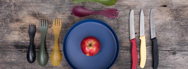 Geschirr und Besteck Outdoor Küche