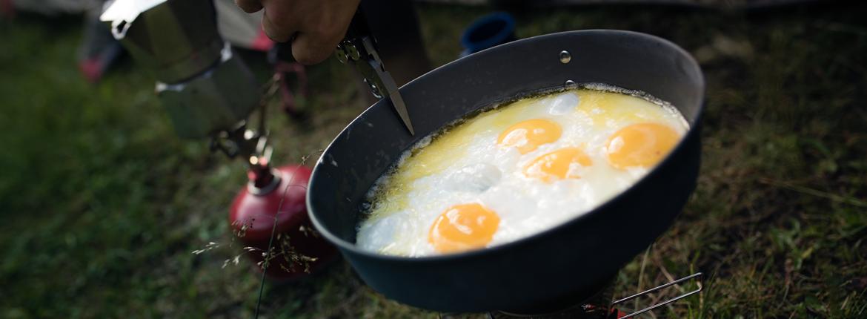 Töpfe und Pfannen Outdoor Küche